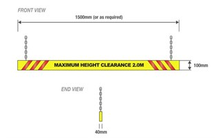 Height Clearance Warning Bars